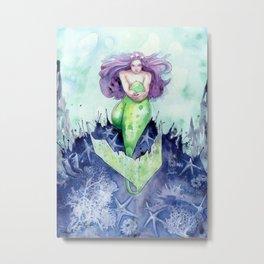 Reef Mermaid Metal Print