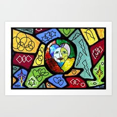Stained Glass Happiness Art Print