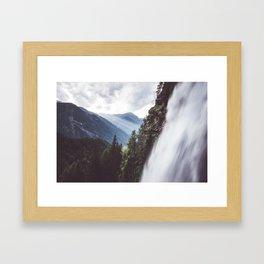 Behind Stuibenfall - Landscape and Nature Photography Framed Art Print