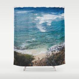 Surfer meets Sea - Diamond Head / Oahu / Hawaii Shower Curtain