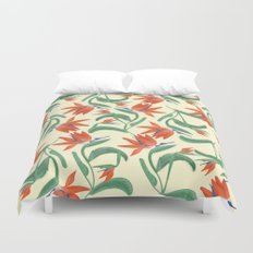 Birds In Paradise Duvet Cover