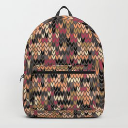 Heathered knit textile 2 Backpack