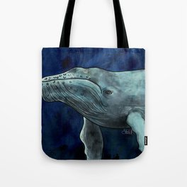 Humpback Whale Illustration Tote Bag