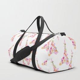 Flowers Floral Eiffel Tower Fashion Nature Stylish Minimalism Duffle Bag