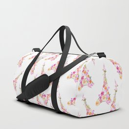Flowers Floral Eiffel Tower Fashion Nature Stylish Minimalism Duffle Bag