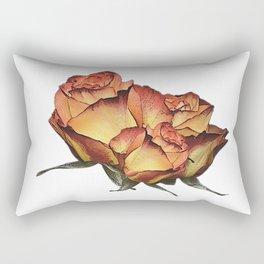 Roses orange, canvas, roses, flowers, rose fan, mothers day Rectangular Pillow