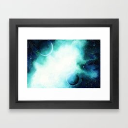 WaterColor Space by hand Framed Art Print