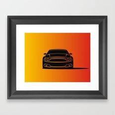 Muscle Car Framed Art Print