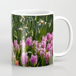 Orange Tulips, Pink Hyacinths, White and Orange Daffodils, and Red Tulips in Amsterdam, Netherlands Coffee Mug
