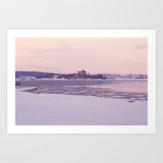 Nordic winter Art Print