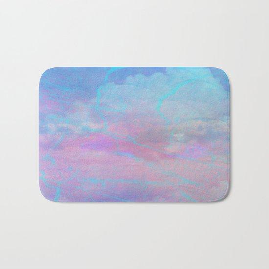 Marble Sky Abstract Bath Mat