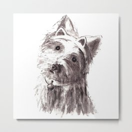 Bon Bon - the cat-like dog Metal Print