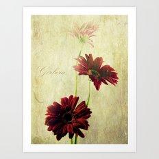 Trio Of Red Art Print