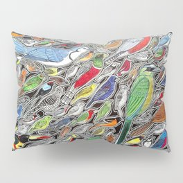 Toucans, parrots and tropical birds of Costa Rica Pillow Sham