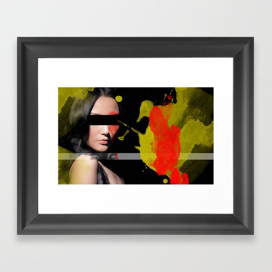 China Girl Framed Art Print