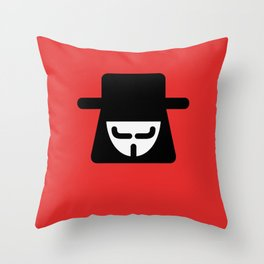v vendetta Throw Pillow