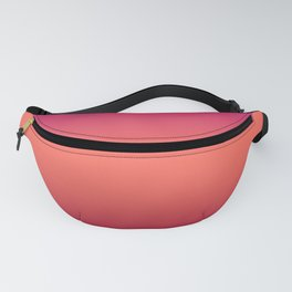 Living Coral Pink Peacock Jester Red Gradient Ombre Pattern Fanny Pack