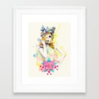 telephone Framed Art Prints featuring Telephone by Mibou