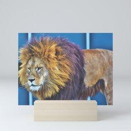 Lion With Purple Mane Mini Art Print
