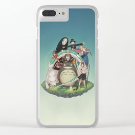 Ghibli: Bliss in Light Clear iPhone Case