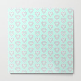Happy Heart Gems Metal Print