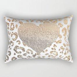 GOLD HEART LEO Rectangular Pillow