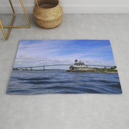 Rose Island and Newport Rode Island Bridge combo Rug
