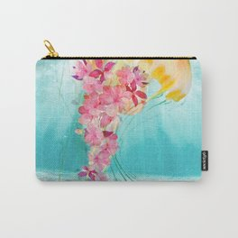 Jellyfish with Flowers Carry-All Pouch