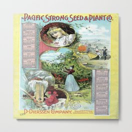 Vintage poster - Pacific Strong Seed & Plant Metal Print
