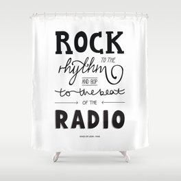Kings of Leon hand-lettered print Shower Curtain