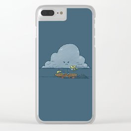 Thunder Cloud Skater Clear iPhone Case