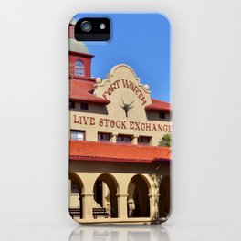Fort Worth Live Stock Exchange iPhone Case