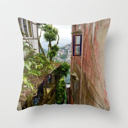 street side view Throw Pillow