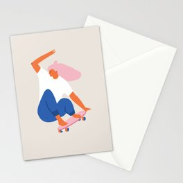 Skateboard girl Stationery Cards