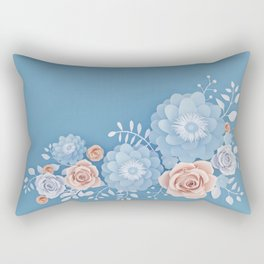 Rose Bleu Rectangular Pillow