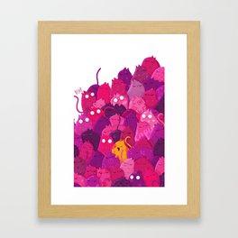 Life in pink Framed Art Print