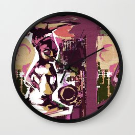 Adinkra Abstract Wall Clock