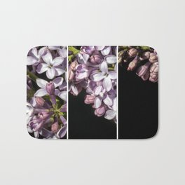 Lilac Bouquet Triptych One Bath Mat