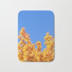 Golden Autumn #1 #Yellow #Leaves #Blue #Sky #art #society6 Bath Mat