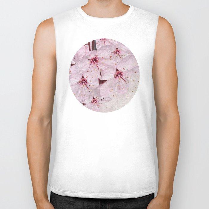 Sakura Blossoms 01 Biker Tank