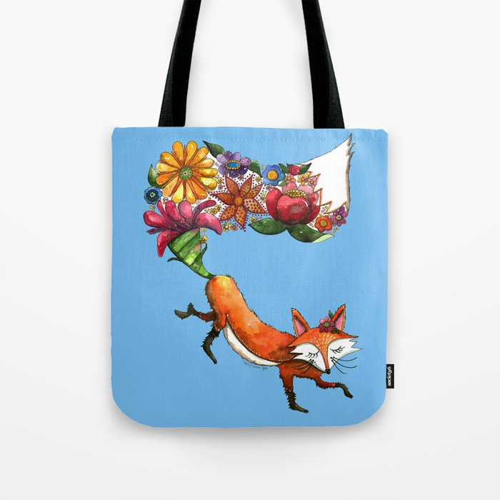 Hunt Flowers Not Foxes Tote Bag