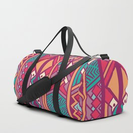 Tribal ethnic geometric pattern 001 Duffle Bag