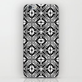 Moroccan Tile Pattern in Black and White iPhone Skin