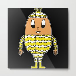 Egg Wrapping-Paper Wavy Metal Print