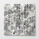 Black and White Herringbone by inkedinred