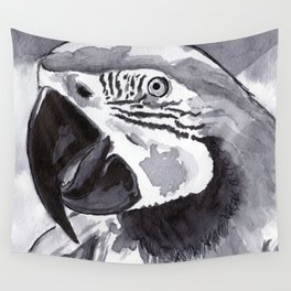 Parrot - Animal Series in Ink Wall Tapestry
