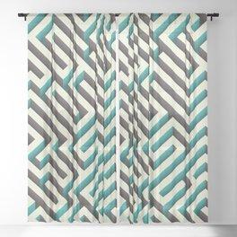 Cyan Maze Sheer Curtain