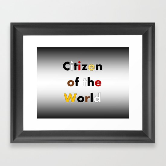 Citizen of the World Framed Art Print