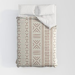rust on bone mud cloth Comforters