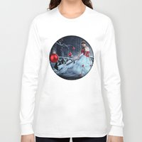 xmas Long Sleeve T-shirts featuring Xmas Night by JuliSnowWhite